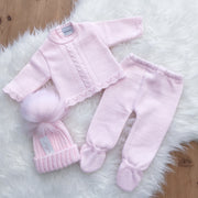Dandelion Pink Knitted 2-Piece Set | Millie and John