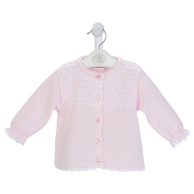 Dandelion Pink Knitted Cardigan | Millie and John