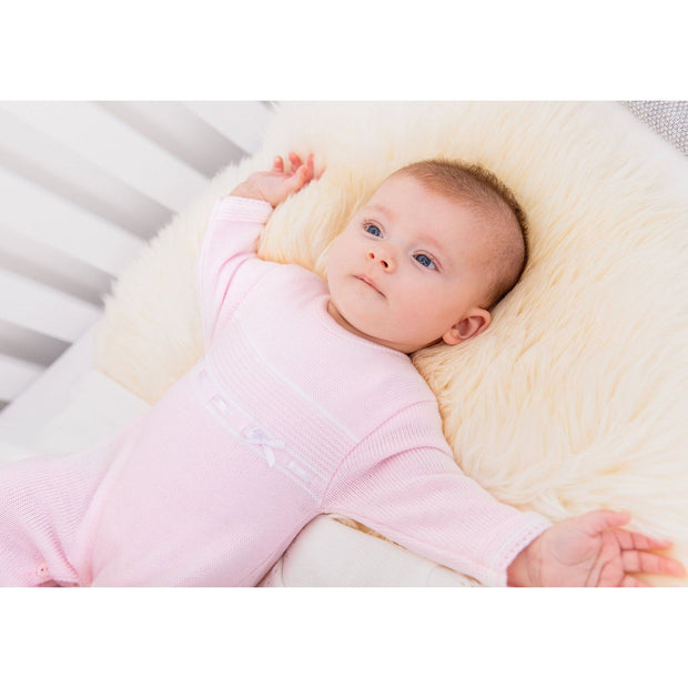 Dandelion Pink Knitted Onesie | Millie and John
