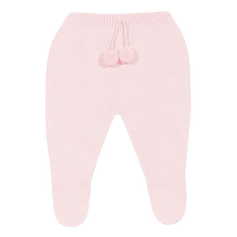 Condor Pink Knitted Pom Pom Leggings | Millie and John