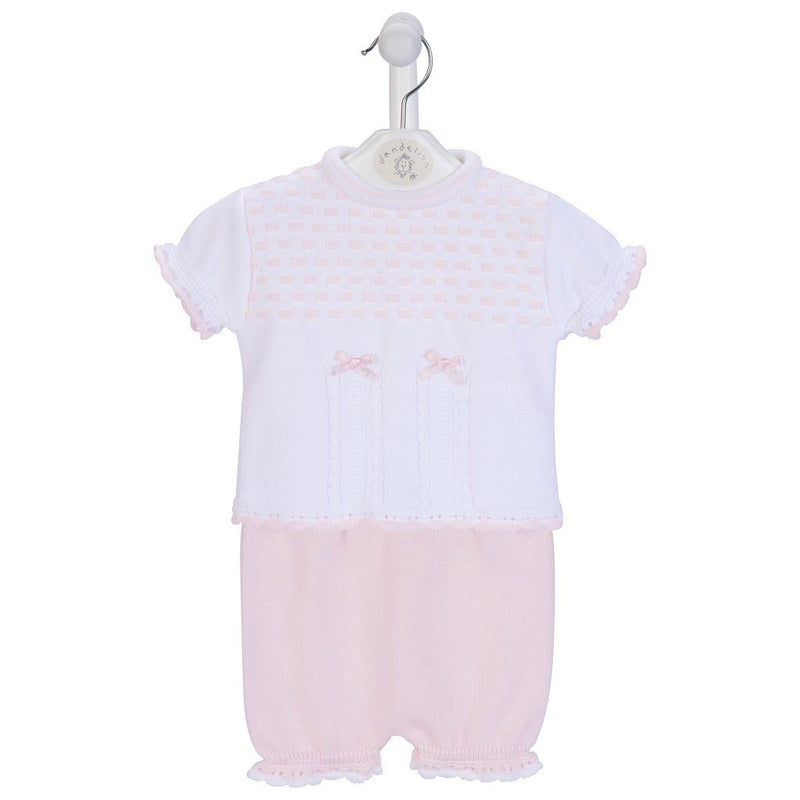 Dandelion Pink Knitted Top & Bloomers | Millie and John