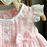Rock-a-Bye Baby Pink Lace Dress, Knickers & Headband | Millie and John