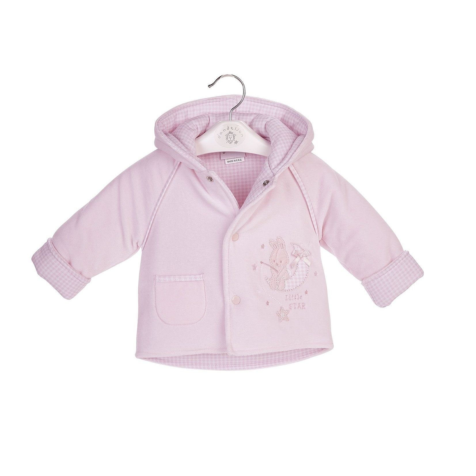 "Dandelion Pink ""Little Star"" Velour Jacket 