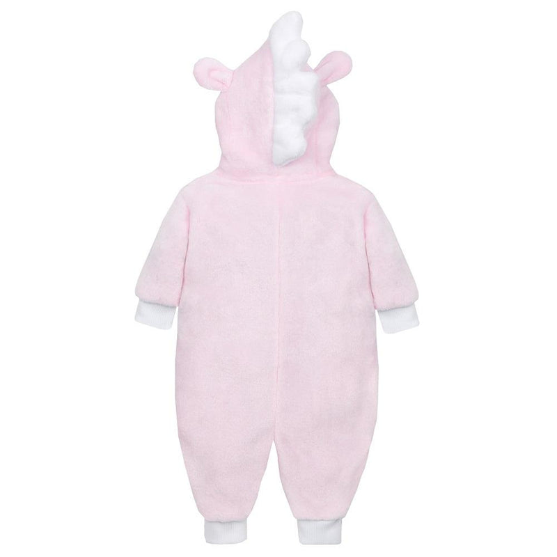 Baby Town Pink or White Unicorn Plush Fleece Onesie | Millie and John