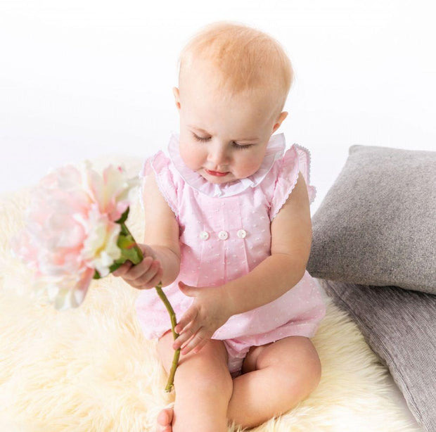 Dandelion Pink Plumeti Dot Dress & Knickers | Millie and John