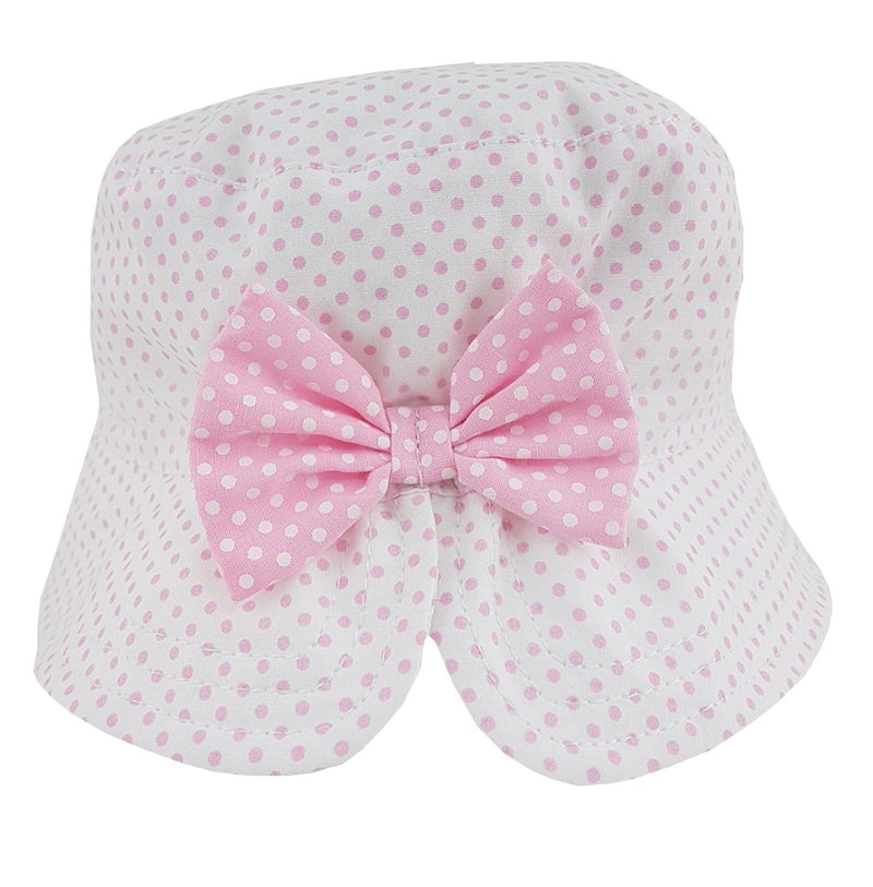 Pesci Baby Pink Polka Dot Bucket Hat | Millie and John
