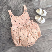 Wedoble Pink Polka Dot Dungaree Romper | Millie and John