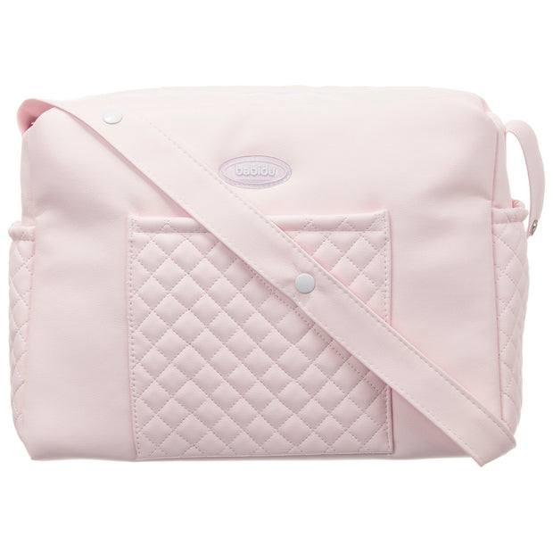 Babidu Pink Quilted Changing Bag | Millie and John
