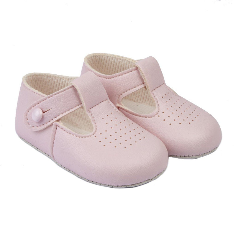 Baypods Pink T-Bar Soft Sole Shoes | Millie and John