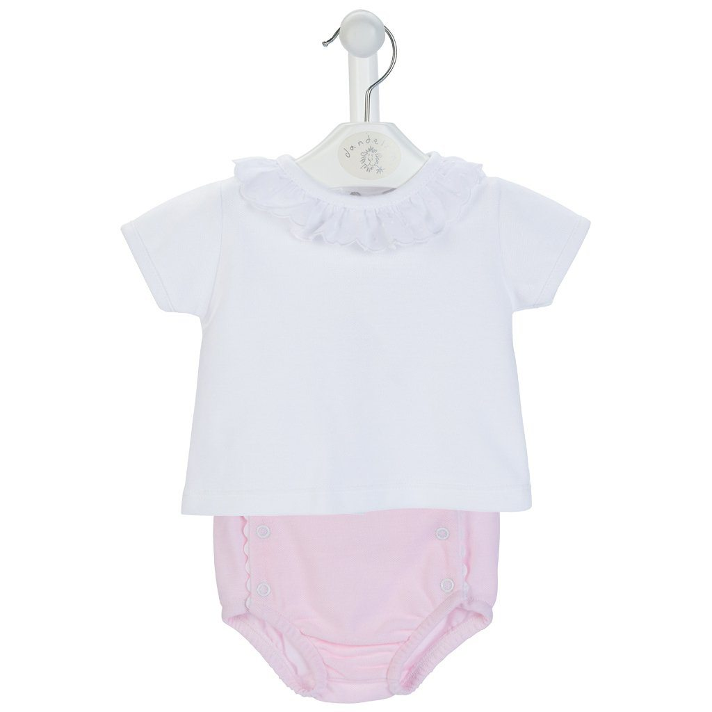 Dandelion Pink T-Shirt & Knickers | Millie and John