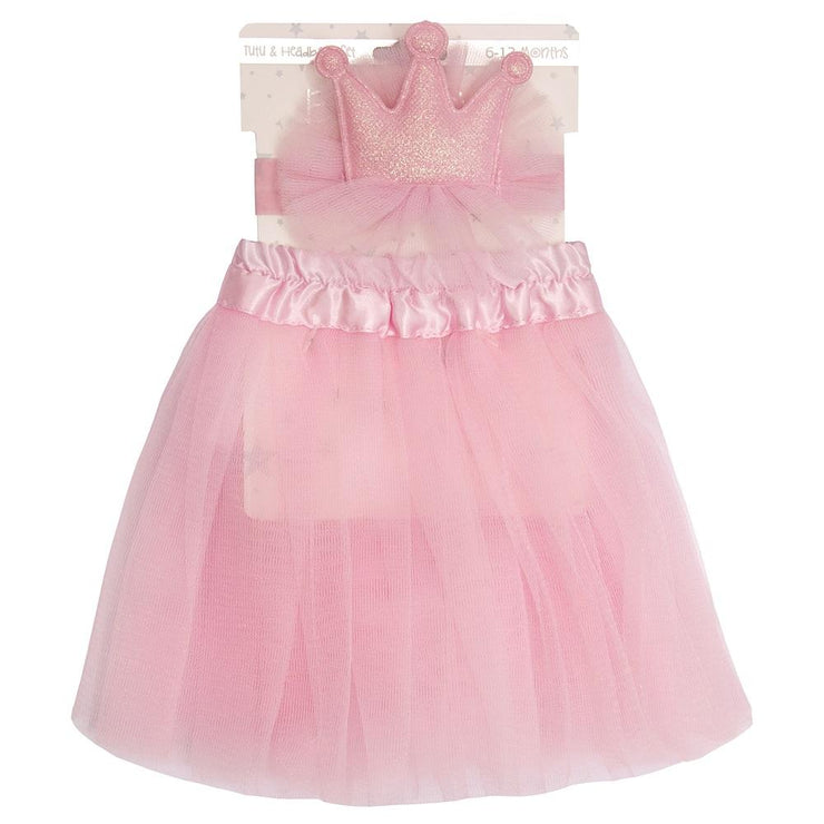 Baby Town Pink Tutu & Crown Set | Millie and John