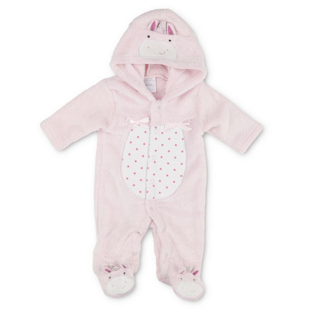 Pitter Patter Pink Unicorn Fleece All In One | Millie and John