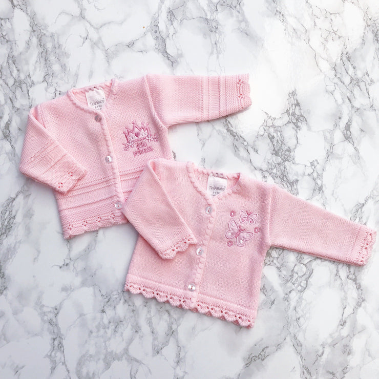Tiny Baby Premature: Pink Knitted Cardigan | Millie and John