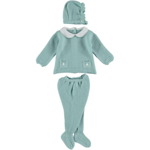 "Juliana ""Emilio"" Duck Egg Knitted 3-Piece Set 