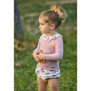 "Juliana ""Estela"" Knitted Floral Top & Bloomers 