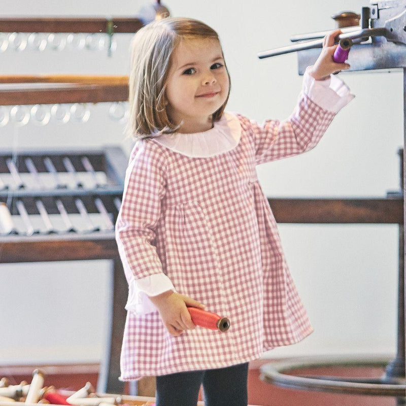 Babidu Raspberry Gingham Dress | Millie and John