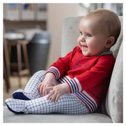Tutto Piccolo Red Check Sleepsuit | Millie and John