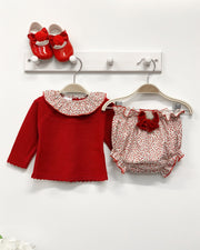 Granlei Red Cherry Print Top & Bloomers | Millie and John