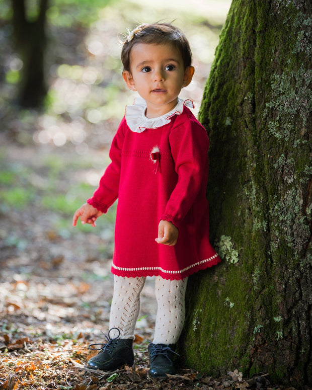 Granlei Red Knitted Dress | Millie and John