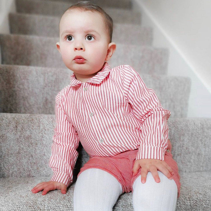 Babidu Red Striped Shirt & Shorts | Millie and John