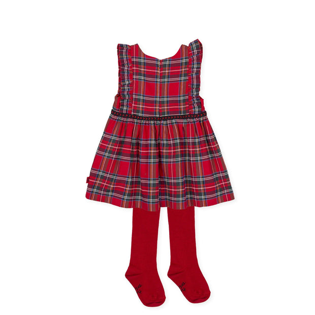 Tutto Piccolo Red Tartan Dress & Tights | Millie and John