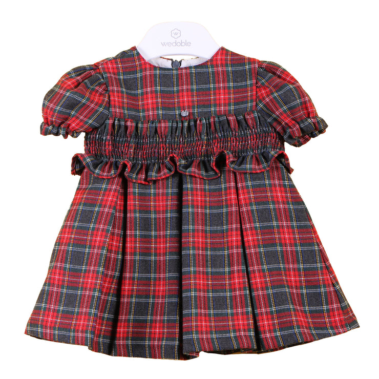 Wedoble Red Tartan Smocked Dress | Millie and John