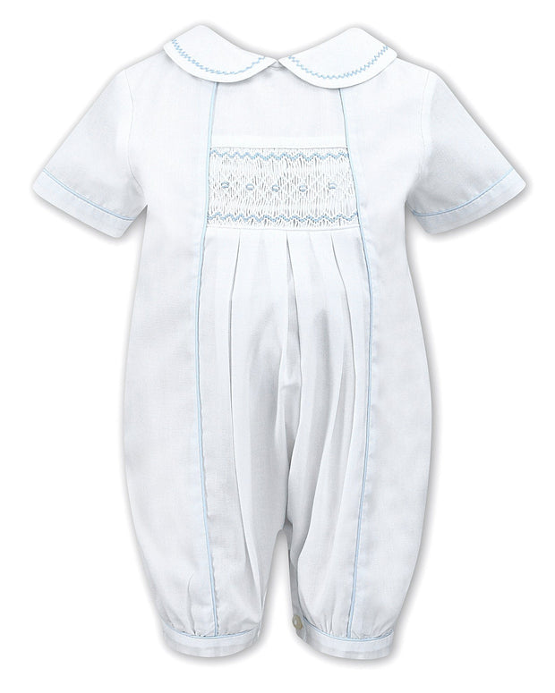 "Sarah Louise ""Reggie"" White Smocked Romper 