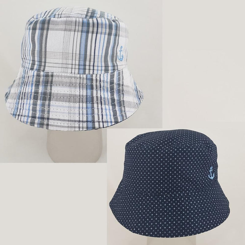 Pesci Baby Reversible Nautical Bucket Hat | Millie and John