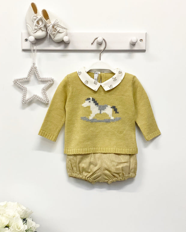 "Paloma de la O ""Rocco"" Mustard Rocking Horse Jumper & Jam Pants 
