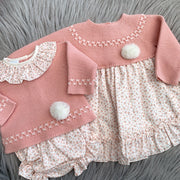 Granlei Rose Pink Knitted Top with Floral Bloomers | Millie and John