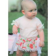 Phi Rose Print Bow Bloomers | Millie and John