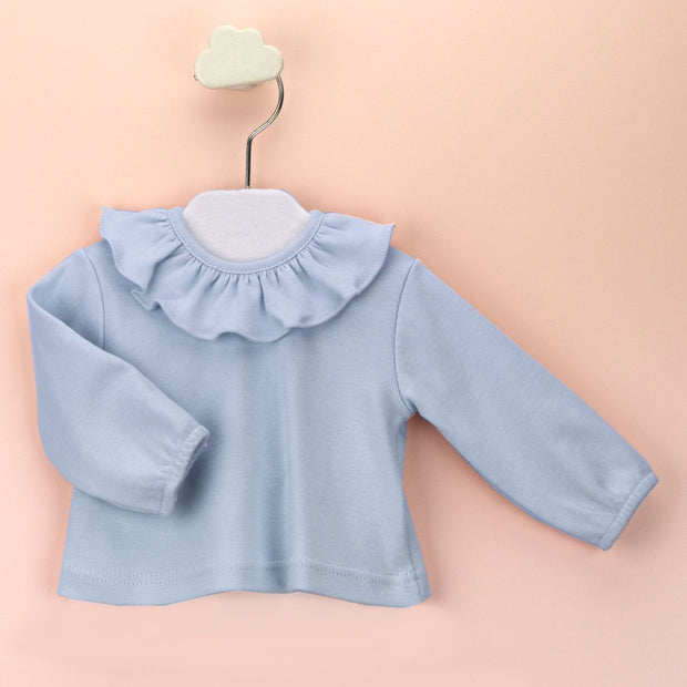 Babidu Ruffle Collar Top | Millie and John