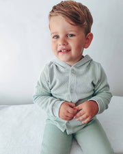 Babidu Sage Green Knit Hooded Tracksuit | Millie and John