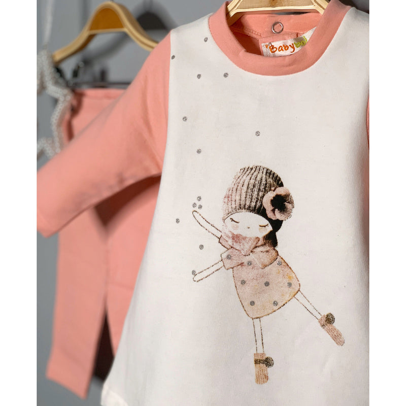 Babybol Salmon Pink Tunic & Leggings | Millie and John
