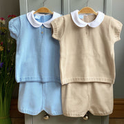 Granlei Sand Knitted Polo Shirt & Shorts | Millie and John
