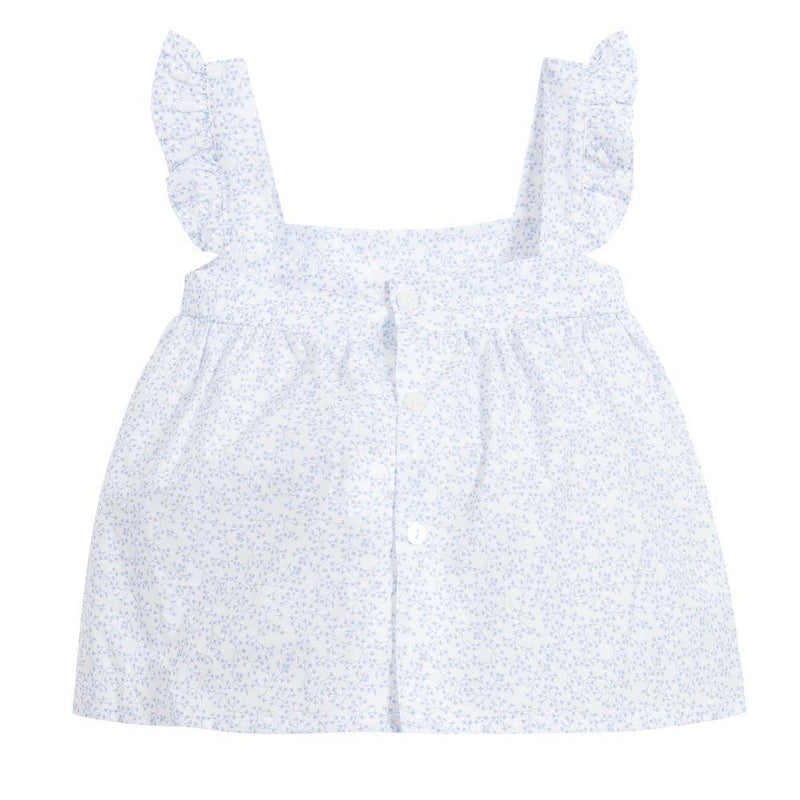 Babidu Sky Blue Floral Dress & Knickers | Millie and John