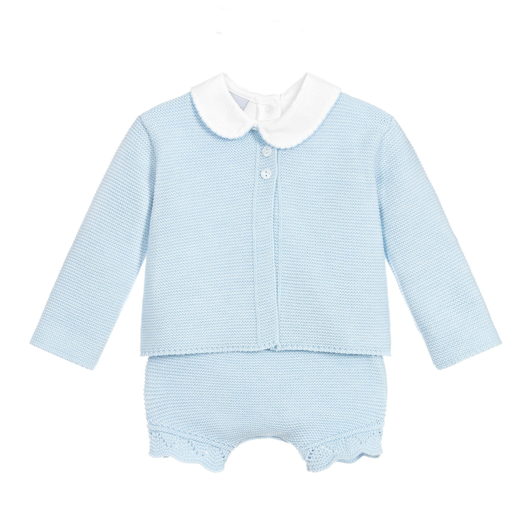 Sky Blue Knitted 3-Piece Set