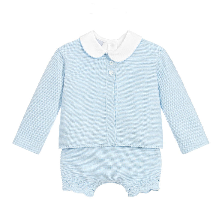 Babidu Sky Blue Knitted 3-Piece Set | Millie and John