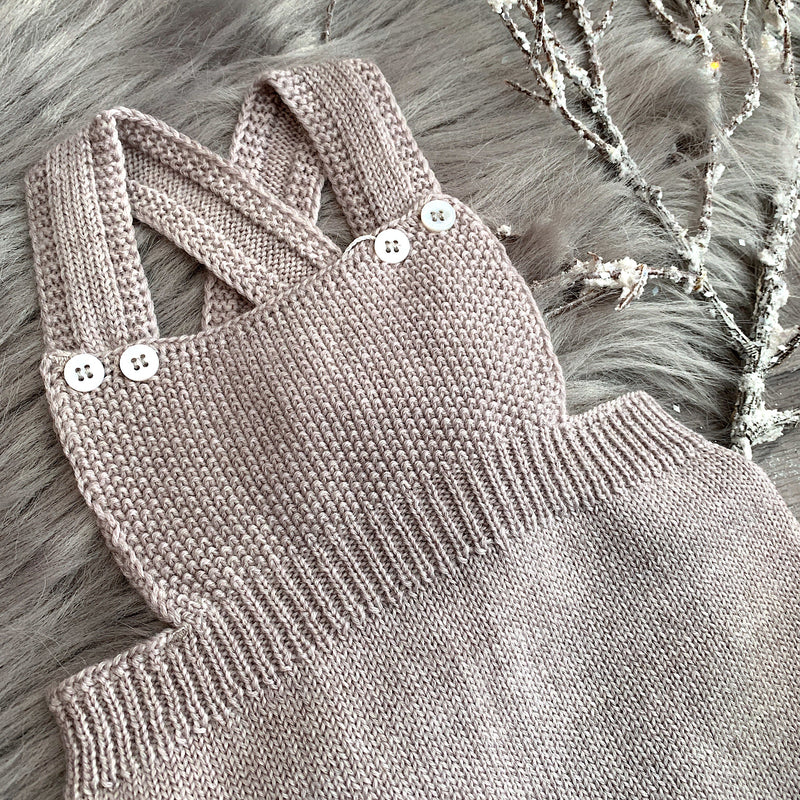 Wedoble Stone Knitted Dungaree Romper | Millie and John