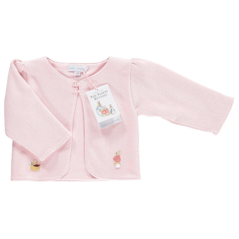 Mini-la-Mode The Flopsy Bunnies Pink Knit Jacket | Millie and John
