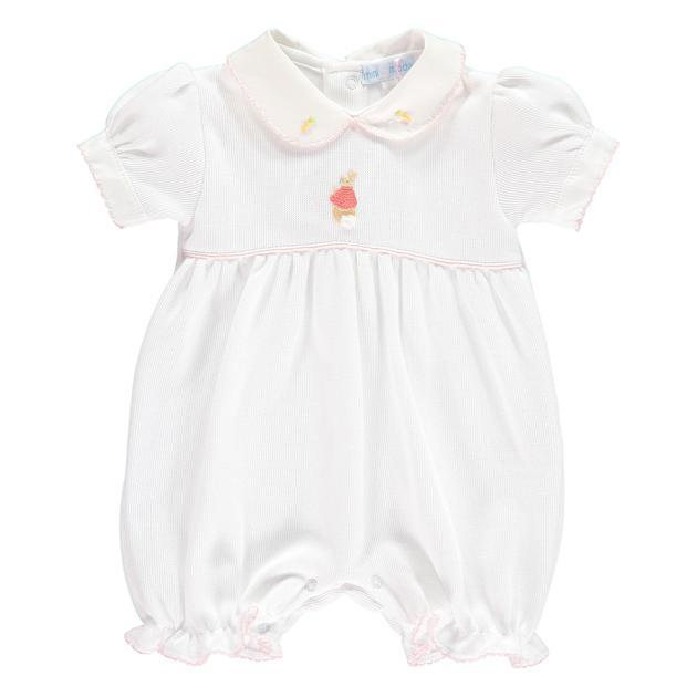 Mini-la-Mode The Flopsy Bunnies White Knit Romper | Millie and John