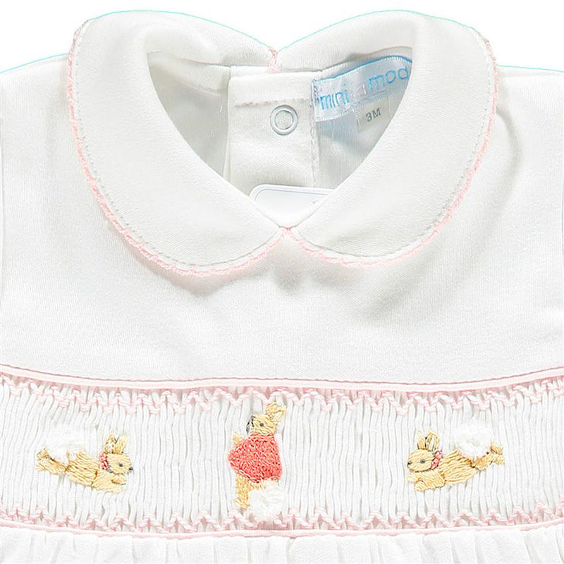 Mini-la-Mode The Flopsy Bunnies White Smocked Dress | Millie and John
