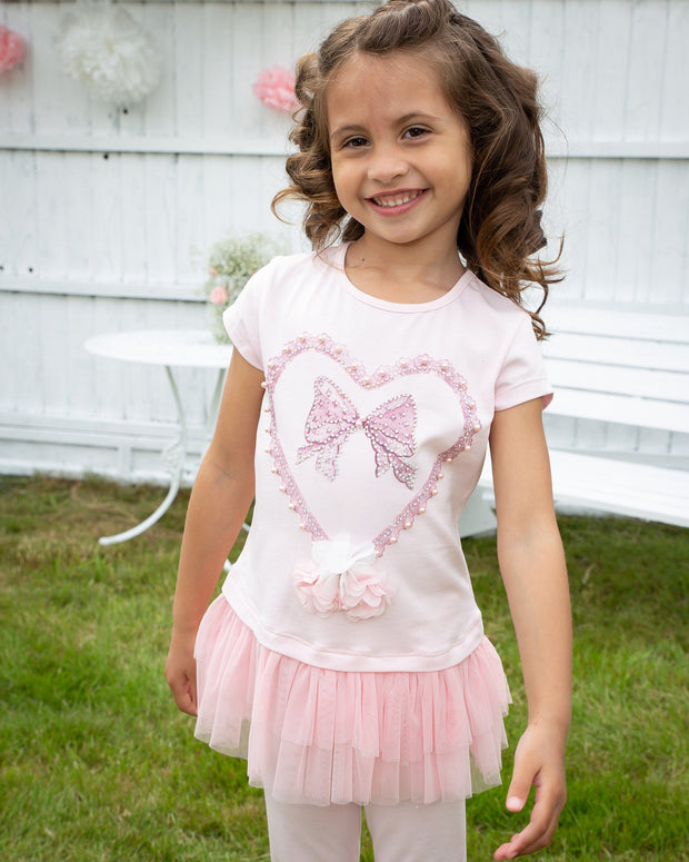 "Caramelo Kids ""Thea"" Pink Tulle Top & Leggings 