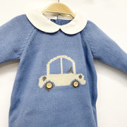 "Juliana ""Tommy"" French Blue Car Romper 