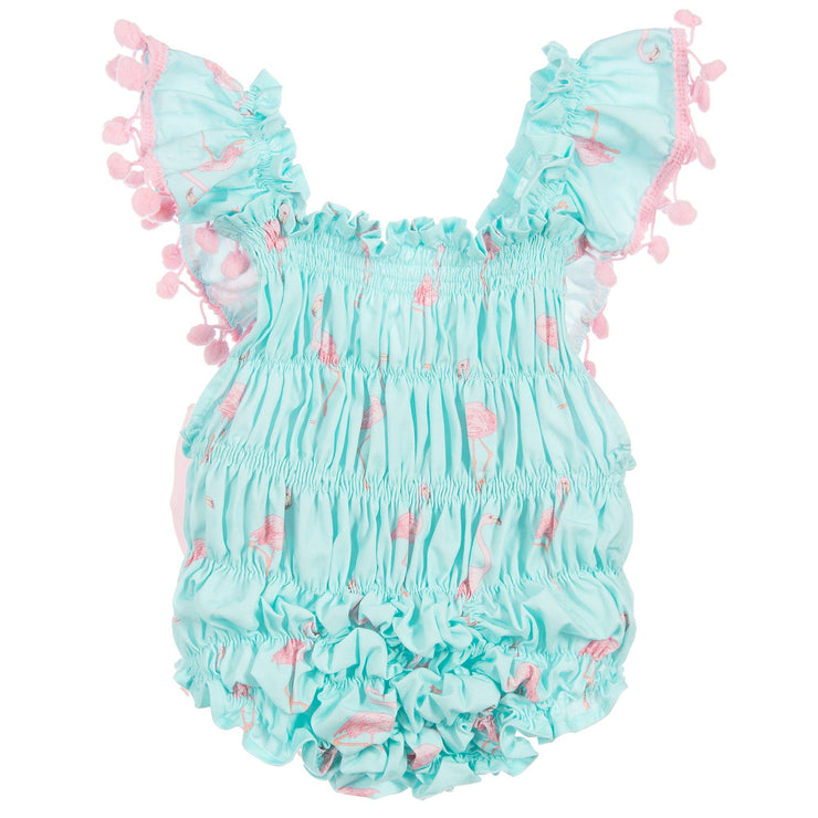 Phi Turquoise Flamingo Print Shortie | Millie and John