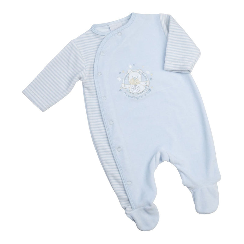 "Dandelion ""Waiting For A Hug"" Velour Sleepsuit 