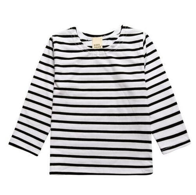 Millie and John White & Black Striped Top | Millie and John
