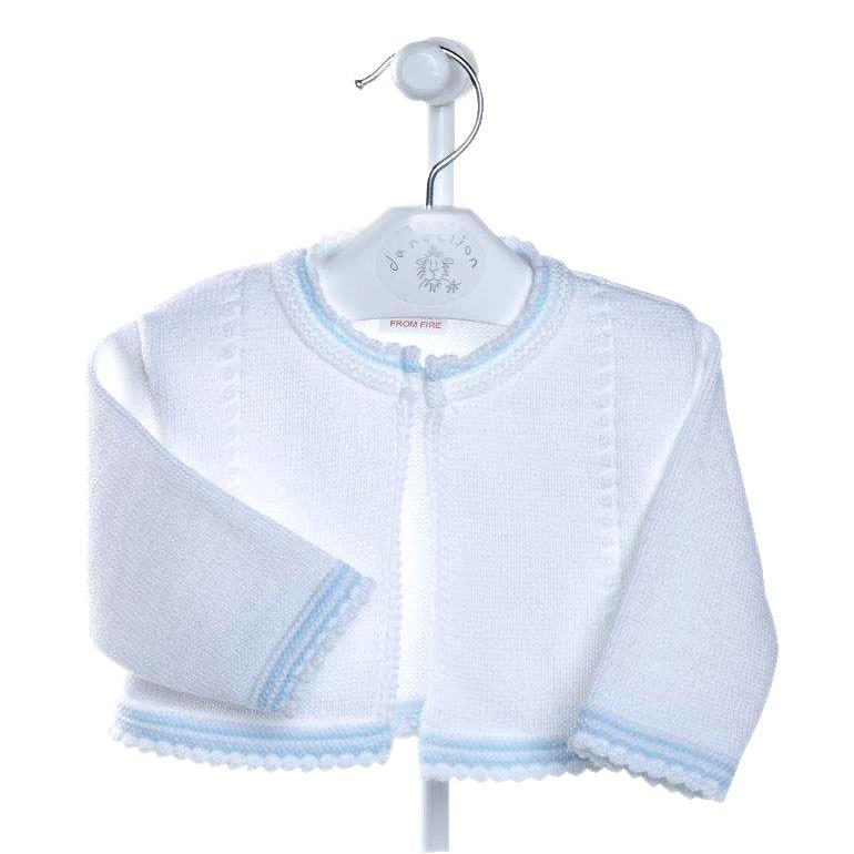 Dandelion White & Blue Bolero Cardigan | Millie and John