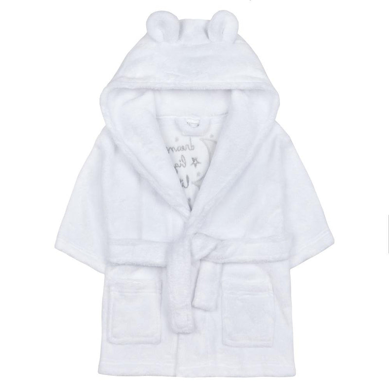 "White ""Dream Big Little One"" Dressing Gown"