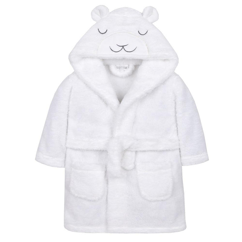 Baby Town White Lamb Snuggle Fleece Dressing Gown | Millie and John